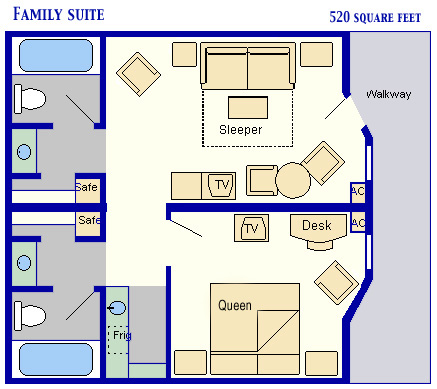 Layout of All Star Music Family Suites