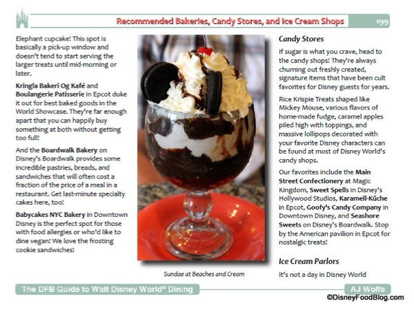 Disney Food Blog WDW Guide Sample Page