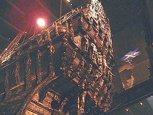 Stern of Vasa with dozens of figural carvings.