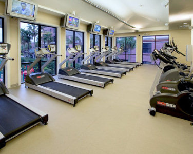Second Floor - Cardio equipment at Caribe Royale Fitness Center