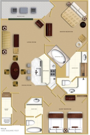 the 2 bedroom villas sleep 8 people maximum of 6 adults 13 and up