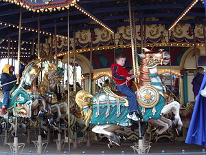 Note the detailed carousel horses!
