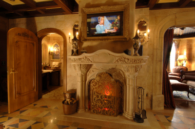 Cinderella Castle Suite Fireplace