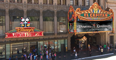 Disney's El Capitan Theatre and Disney's Soda Fountain & Studio Store