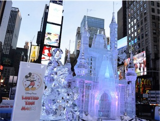 Disney Ice Castle in Times Square