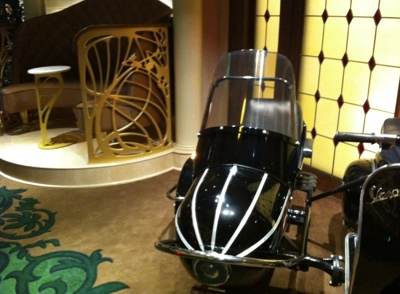 Vespa and Sidecar in La Piazza on the Disney Fantasy
