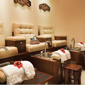 Mandara Spa pedicure area