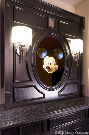 Mickey greets you at Mickey Mouse Penthouse