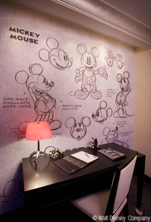 Desk in Mickey Mouse Penthouse