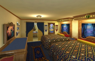 Artist rendering of Royal Guest Room at Port Orleans Resort