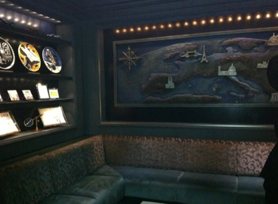 New seating area in Skyline Bar on the Disney Fantasy