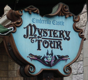 Cinderella Castle Mystery Tour sign